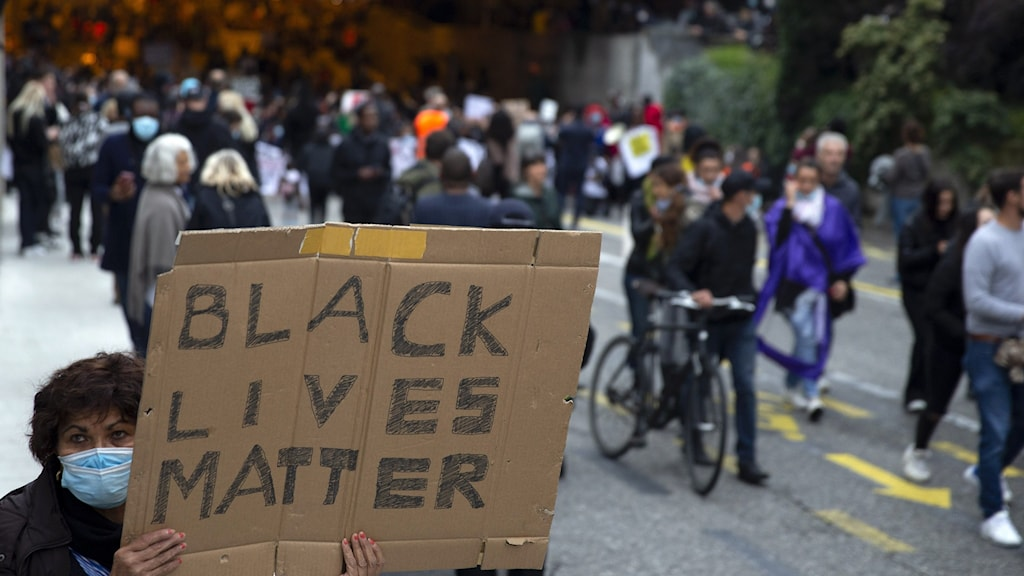 Black lives matter-mielenosoitus.