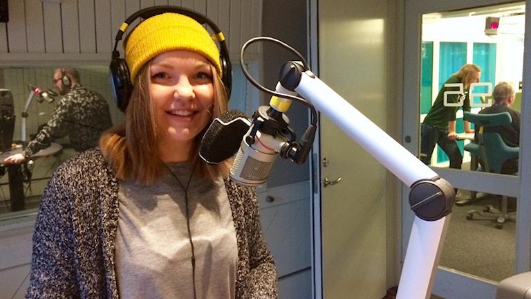 Aija Aakula Gävlen studiossa.