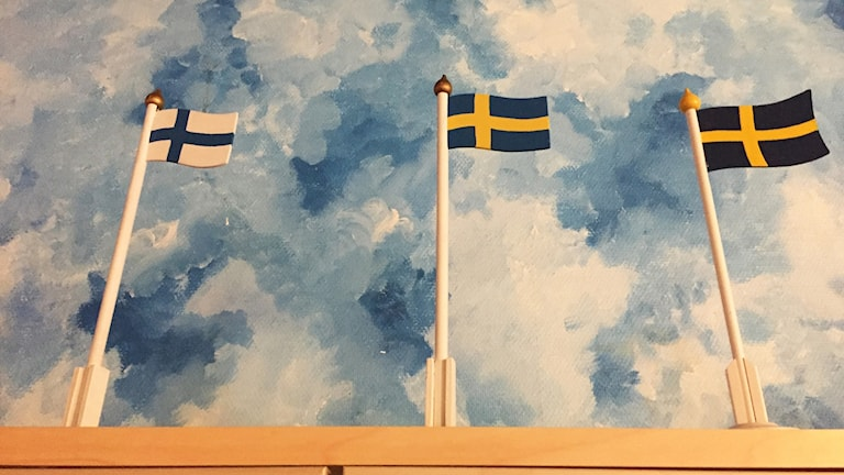 sverige finska flaggan svenska flaggan suomi ruotsi liput lippu