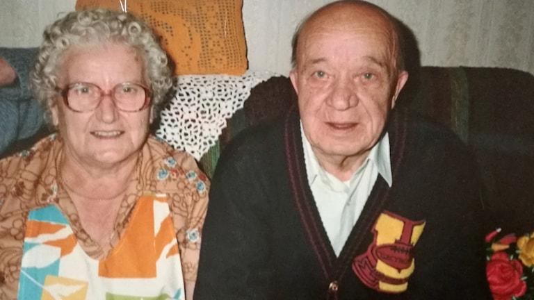 Antti Rokka ja vaimonsa Ida Rokka, kuva otettu 80-luvun lopussa.