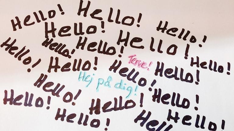 Hello, terve, hej!