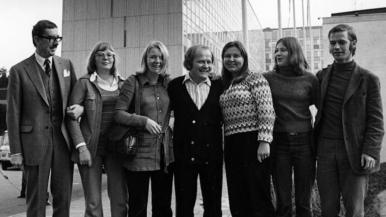 Suomenkielinen radiotoimitus 1973.