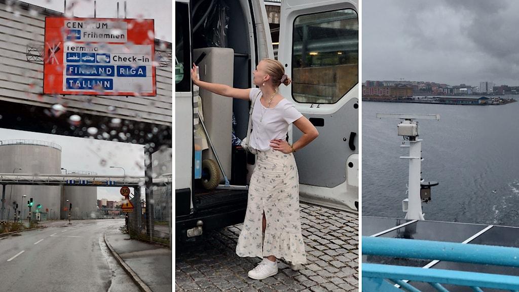 Toimittaja Matilda Peltonen muuttaa laivalla ja autolla.
