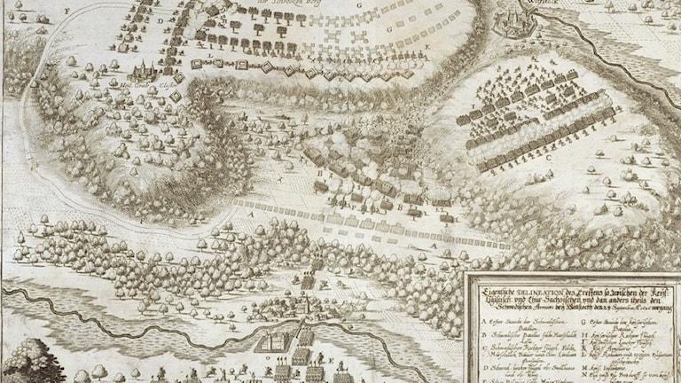 Kartta Wittstockin taistelusta 1636