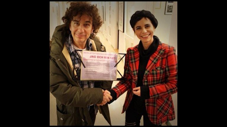 Magnus Uggla och Carolina Norén. Foto: Ronnie Ritterland / Sveriges Radio