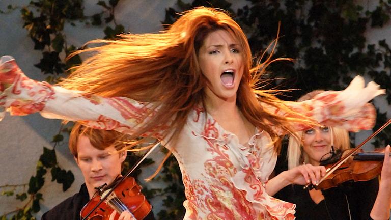 Helena Paparizou låg på listan 2005 och 2006 med bland annat med låtarna Mambo och Heroes. Foto: CARL-JOHAN SÖDER / SVT BILD