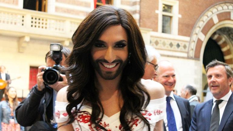 Conchita Wurst won this year's Eurovision Song Contest for Austria. Photo: Ronnie Ritterland / Sveriges Radio