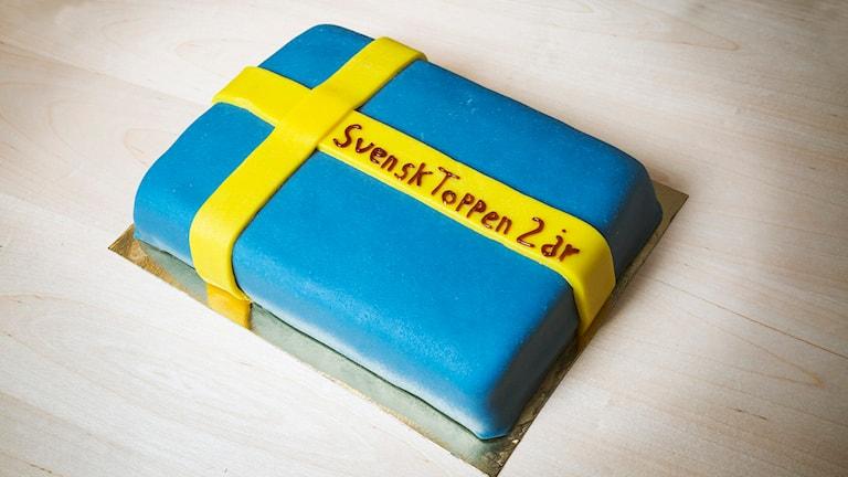 Carolina Norén och Magnus Uggla firar två år på Svensktoppen. Foto: Mattias Ahlm / Sveriges Radio