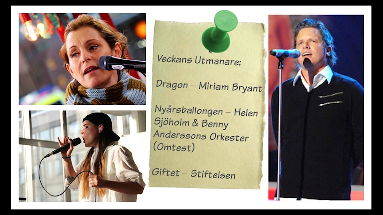 Helen Sjöholm sjunger i Musikhjälpen 2014. Foto: Stephanie Londéz/Sveriges Radio. Stiftelsen. Foto: Carl-Johan Söder/SVT. Miriam Bryant live i Musikguiden i P3 (foto: Tommy Ericsson/Sveriges Radio)