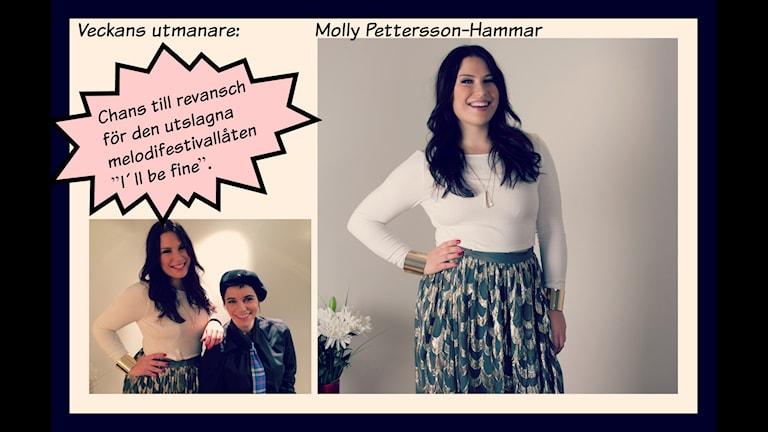 """Molly Pettersson-Hammar – Chans till revansch för den utslagna melodifestivallåten """"I´ll be fine"""". Foto: Ronnie Ritterland / Sveriges Radio"""