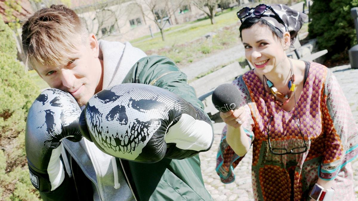 Danny Saucedo är en av veckans utmanare på Svensktoppen med Carolina Norén. Foto: Ronnie Ritterland / Sveriges Radio
