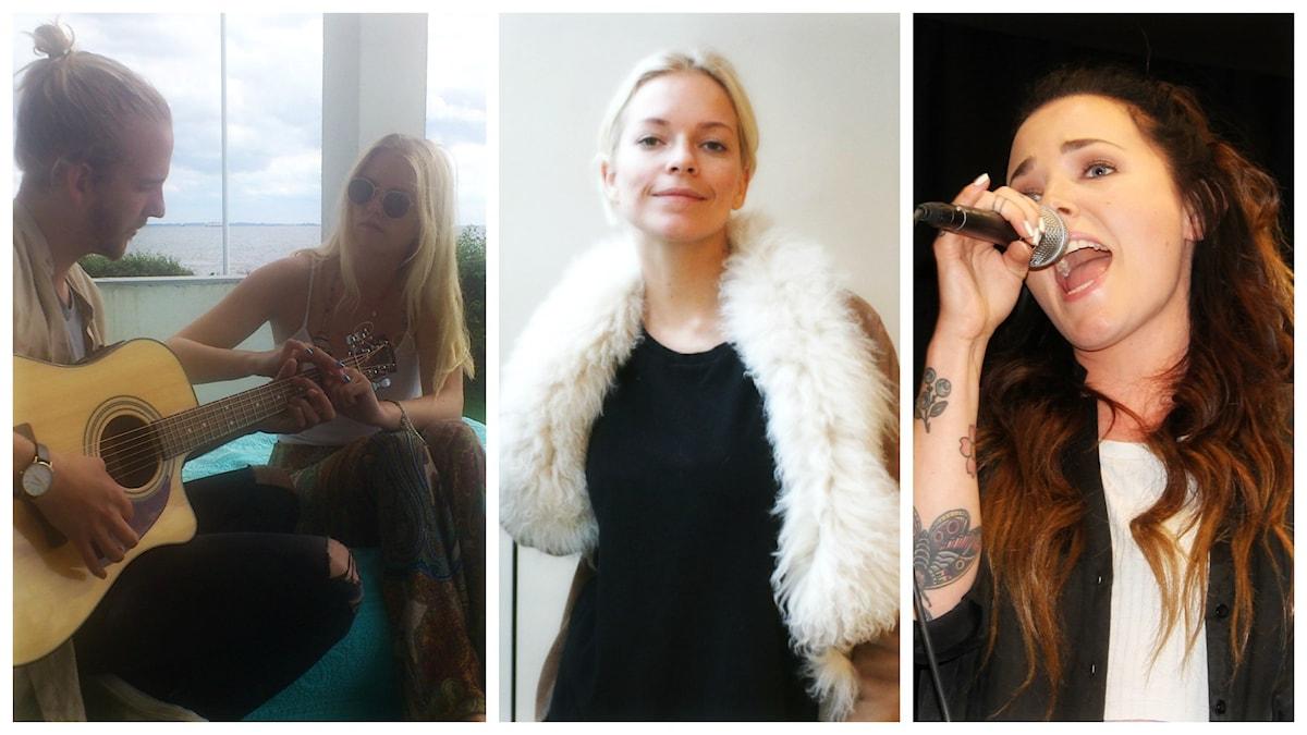 Veckans utmanare är Smith & Thell, Petra Marklund och Miriam Bryant. Foto: Kristoffer Lieng/Madeleine Blidberg/Ronnie Ritterlnad/Sveriges Radio