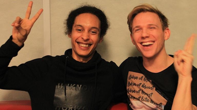 Victor och Kristian Täljeblad.