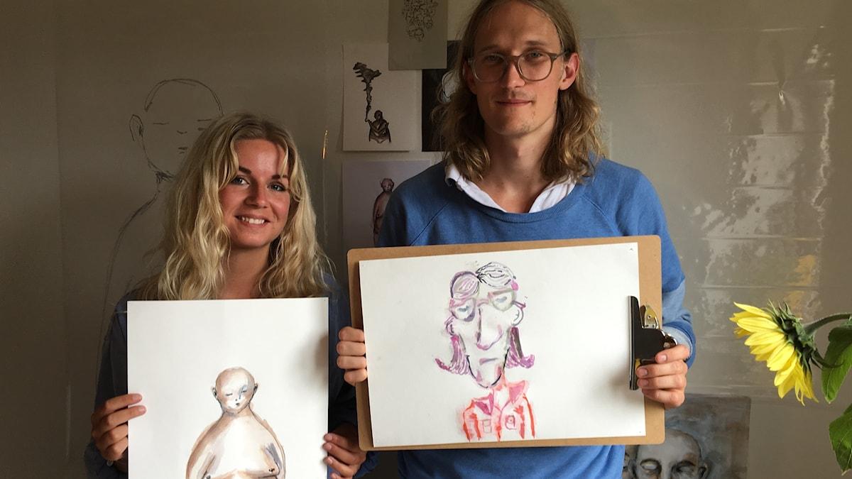 Marcus och konstnären Anna
