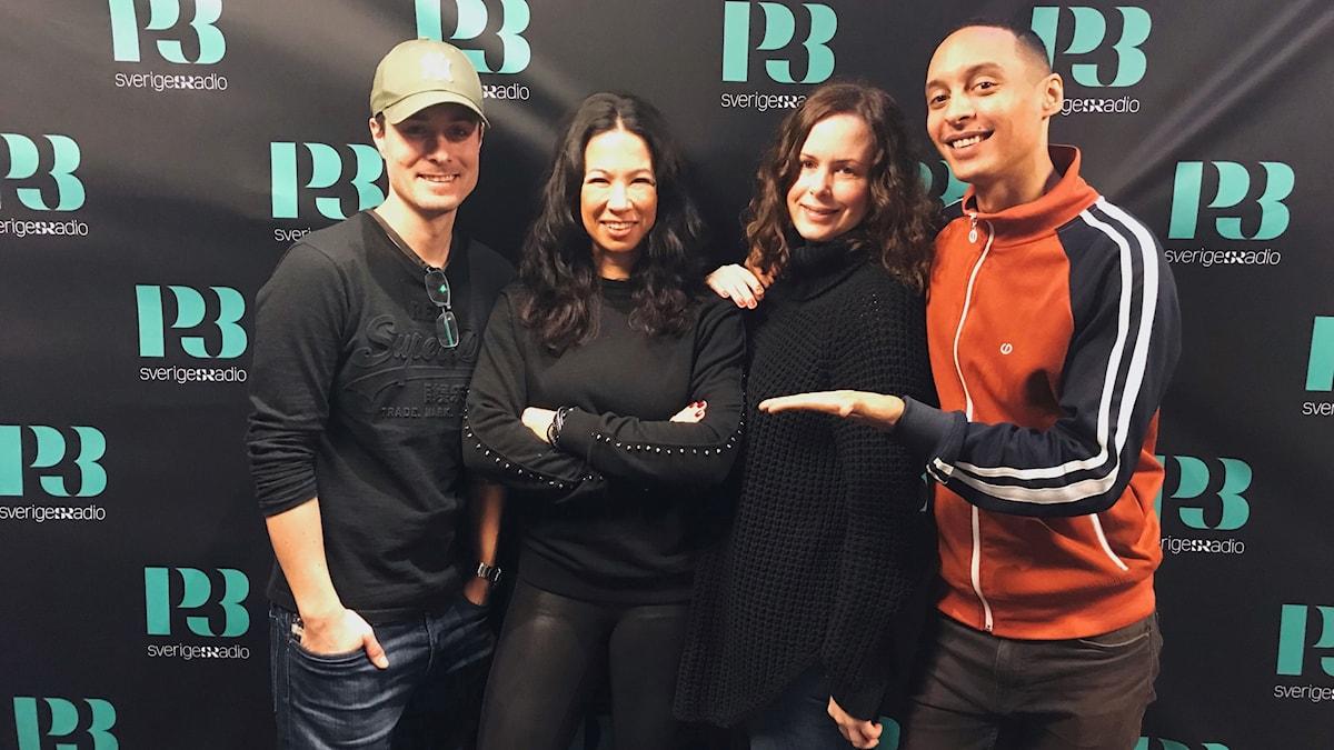 David, Magda Gad, Hanna och Victor