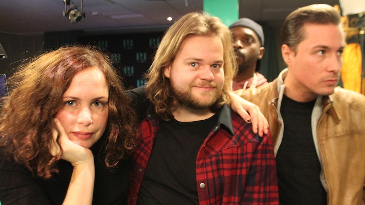 Hanna, Magnus Nilsson, Kodjo och David.