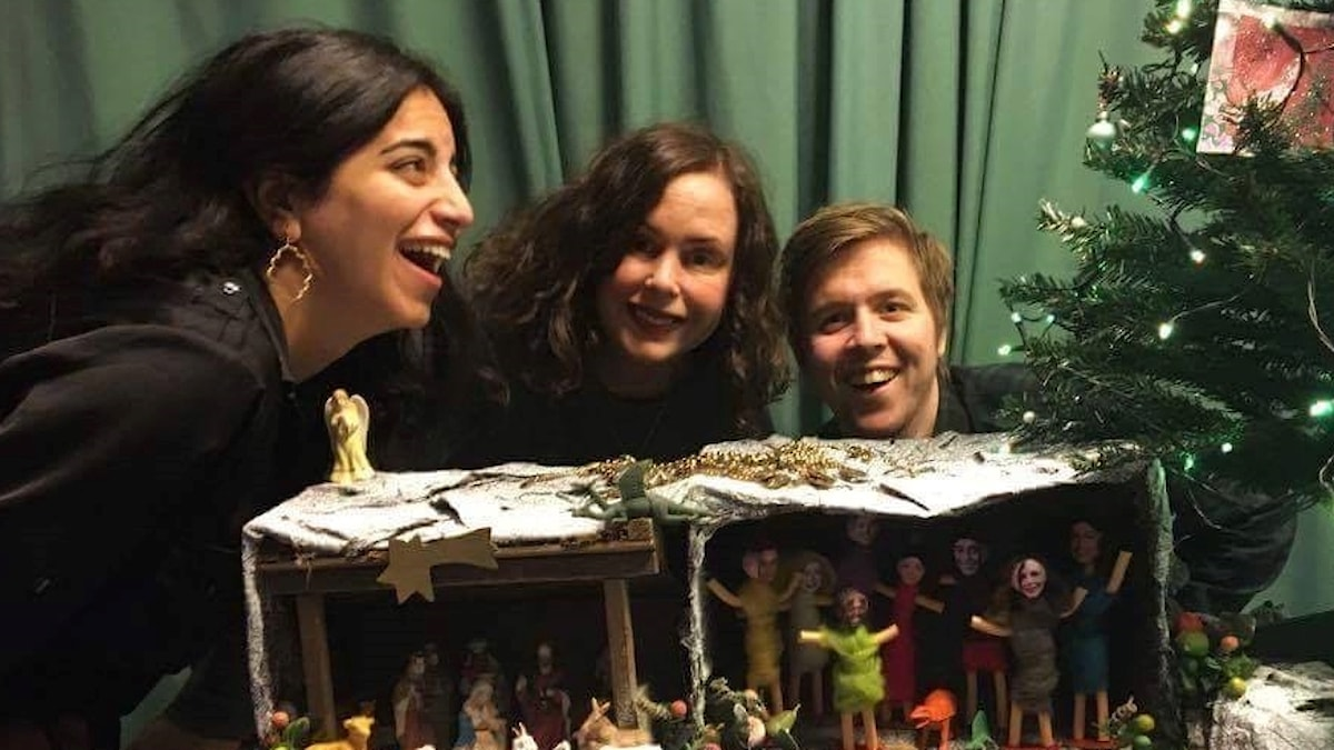 Maria, Hanna och Kalle.