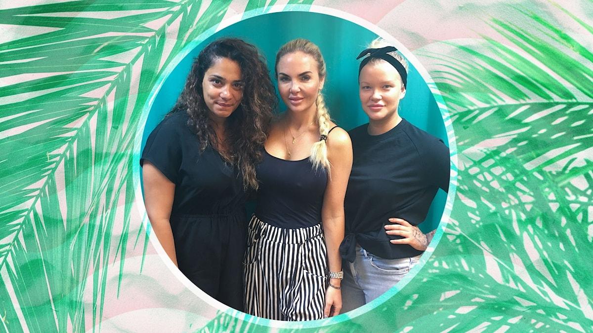 Farah, Emelie och Isabelle