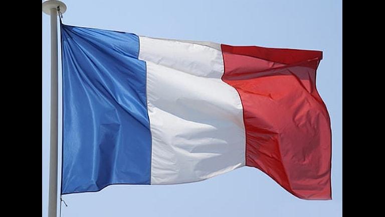 Frankrikes flagga. Foto: Okänt.