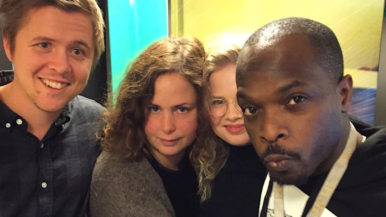 Kalle Berg, Hanna, Tora Rydelius och Kodjo i studion!