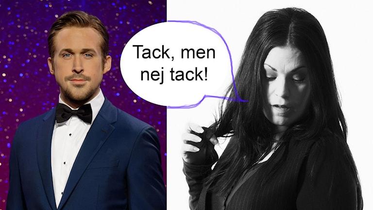Martina är missnöjd med sin matchning.. Foto: TT + Sveriges Radio