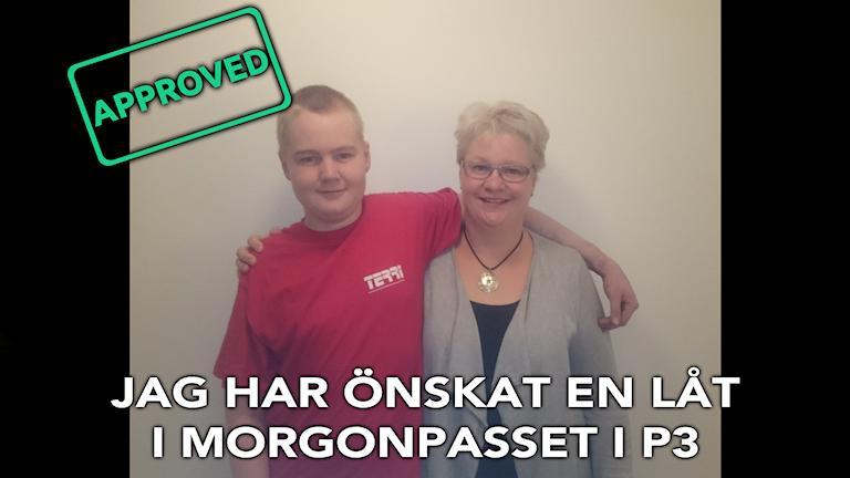 Låtönskaren Måns och hans fantastiska mamma. Foto: Privat