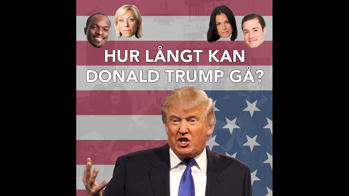 Kodjo, Ginna Lindberg, Martina, David och Donald Trump. OBS. Bilden är ett montage