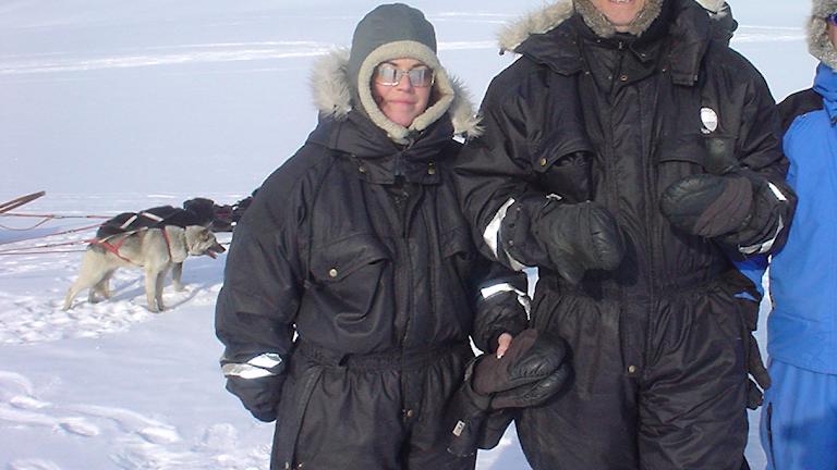 Martina på Svalbard...Hur ställer vi oss till detta? Foto: Martina Thun/SR