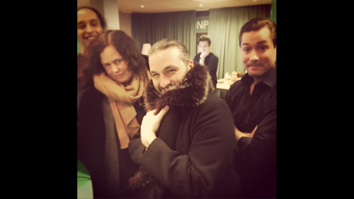 Victor, Hanna, STEVE ANGELLO (!!!) och David. Foto: Paulo Saka/SR