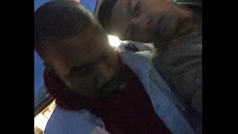 Ahmad tog en selfie med Kanye. Foto: Ahmad Rahmati/Privat