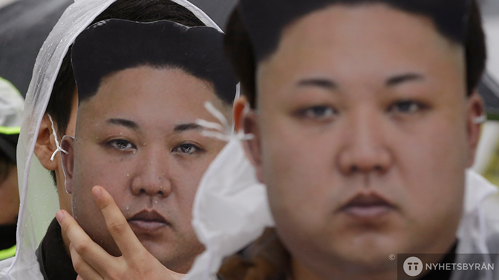 Kim Jong-Un masker. Foto: Ahn Young-joon/AP