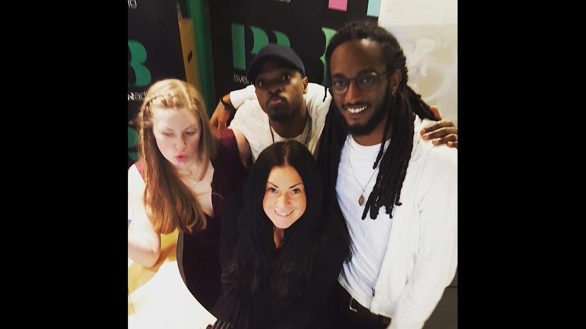 Martina, Kodjo, Sara och Ahmed