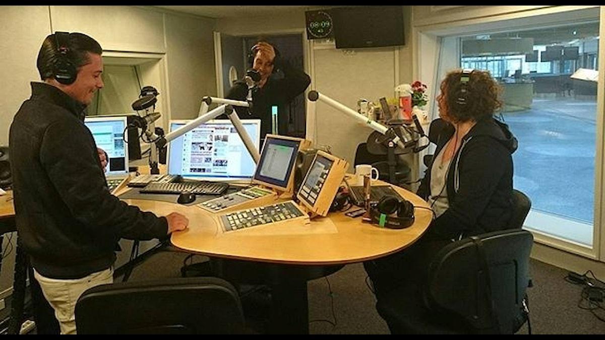 Idag kapade vi P5s studio, med FÖNSTER! Foto: Isabel Eriksson/Sveriges Radio