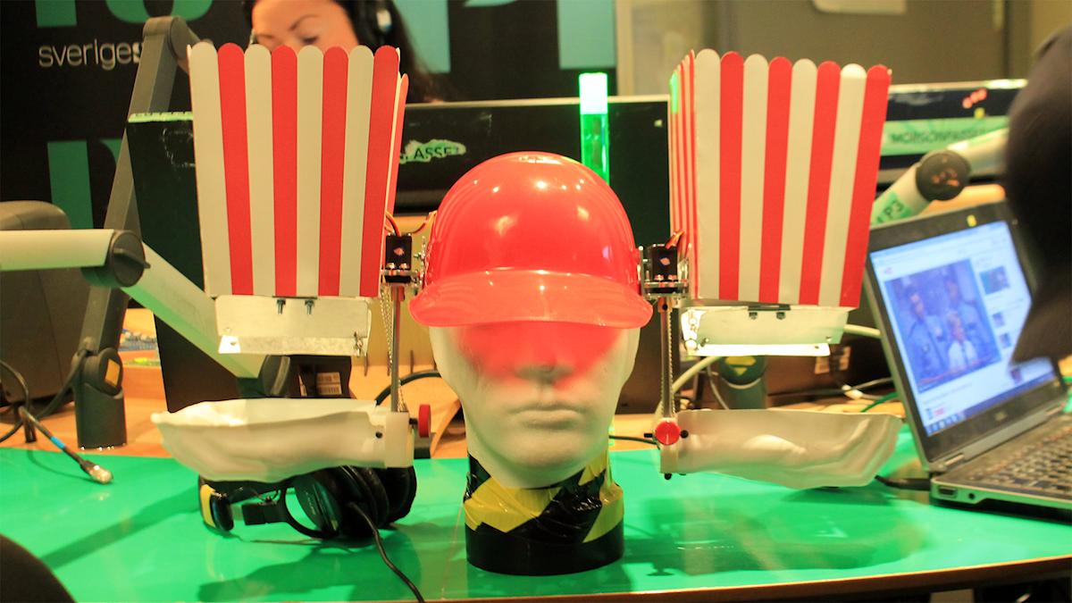 Simones popcornmaskin. Foto: Paulo Saka/SR