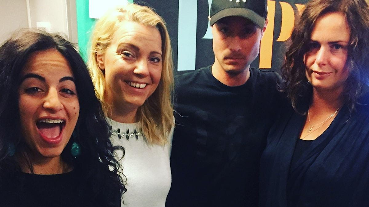 Maria, Carina Bergfeldt, David och Hanna