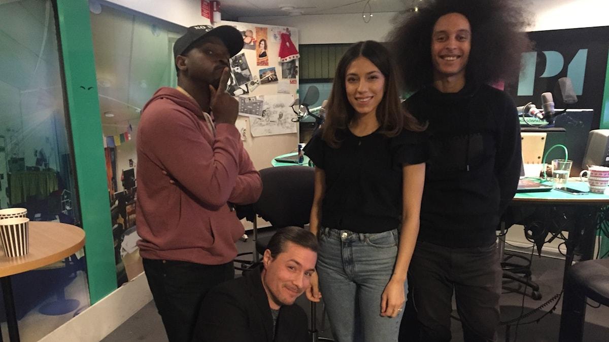 Kodjo, David, Evin Ahmad och Victor