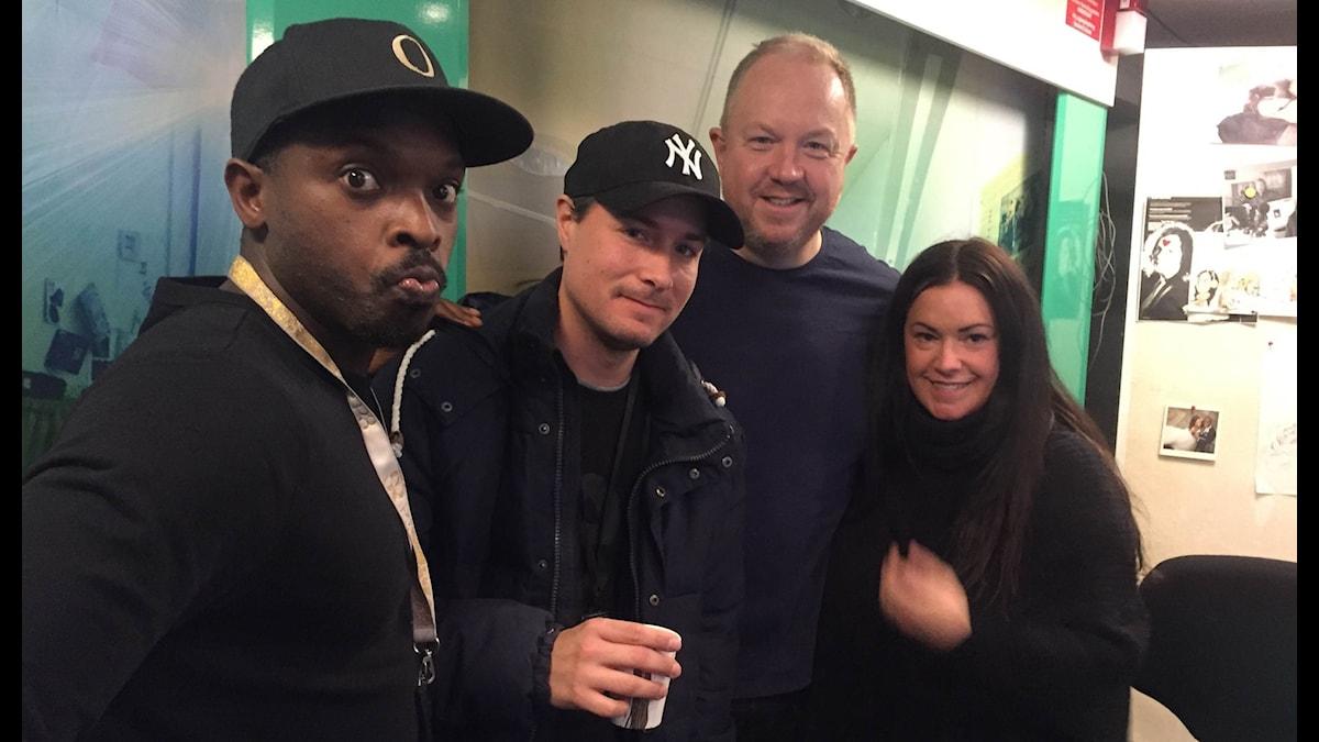 Kodjo, David, Anders Jansson och Martina.