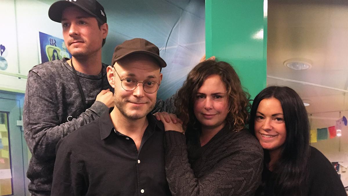 David, Magnus Arvidson, Hanna och Martina i studion!