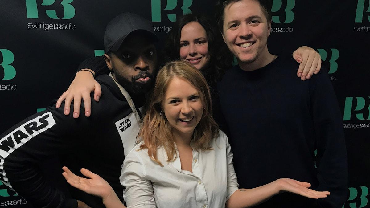 Kodjo, Alexandra Dahlström, Hanna och Kalle