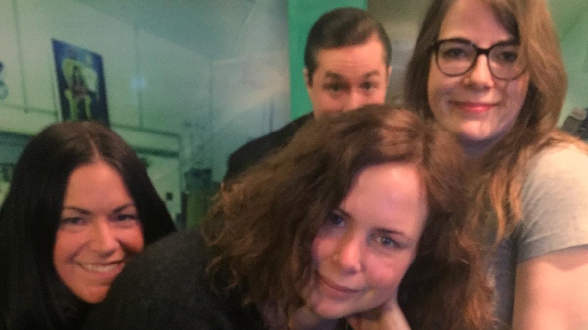 Martina, Hanna, David och Moa Berglöf!