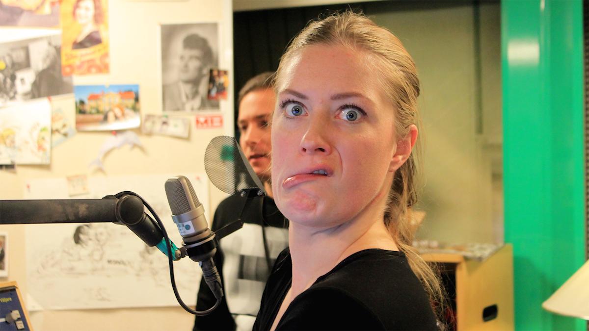 Sara och David hänger i studion!