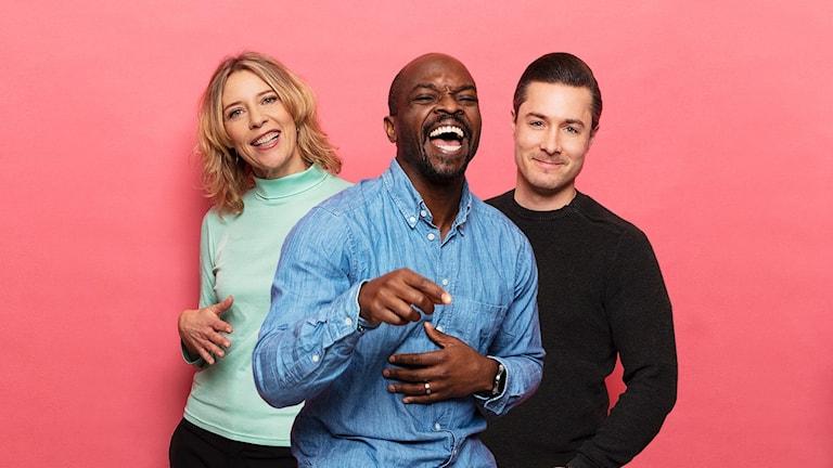 Programledarna för Morgonpasset, Kodjo, David och Katherine