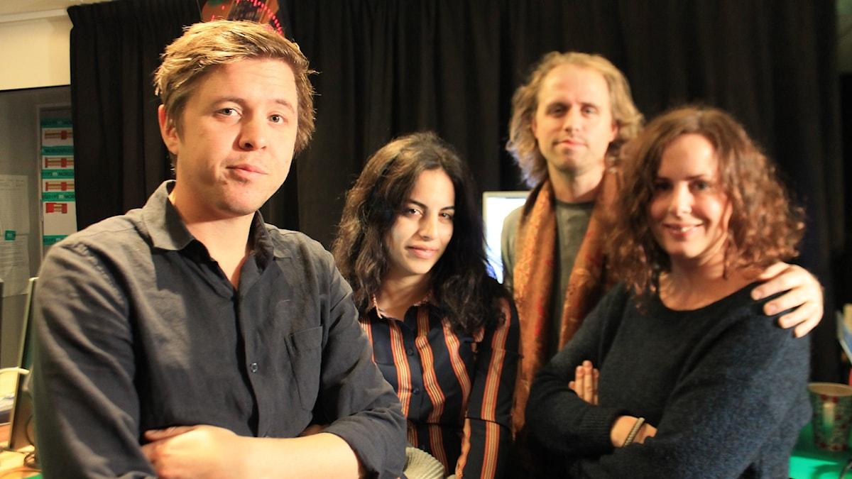 Kalle, Maria, Martin Jönsson och Hanna.