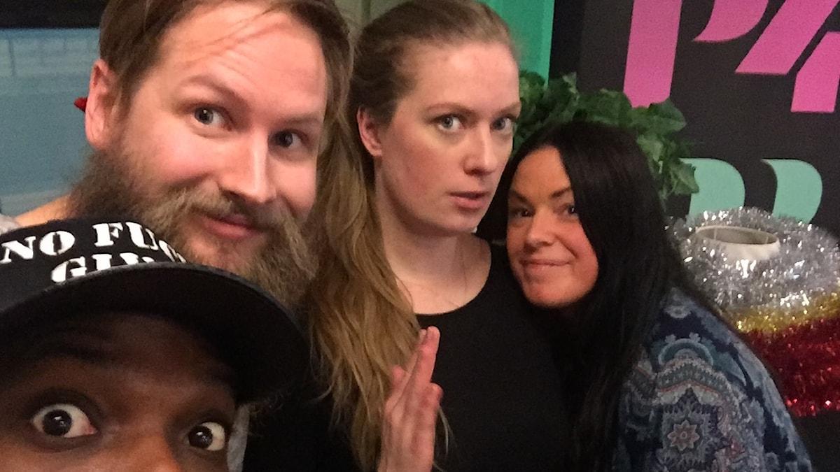 Kodjo, Henrik Nyblom, Sara och Martina