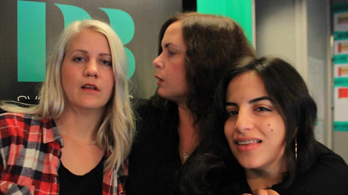 Emma Knyckare, Hanna och Maria.