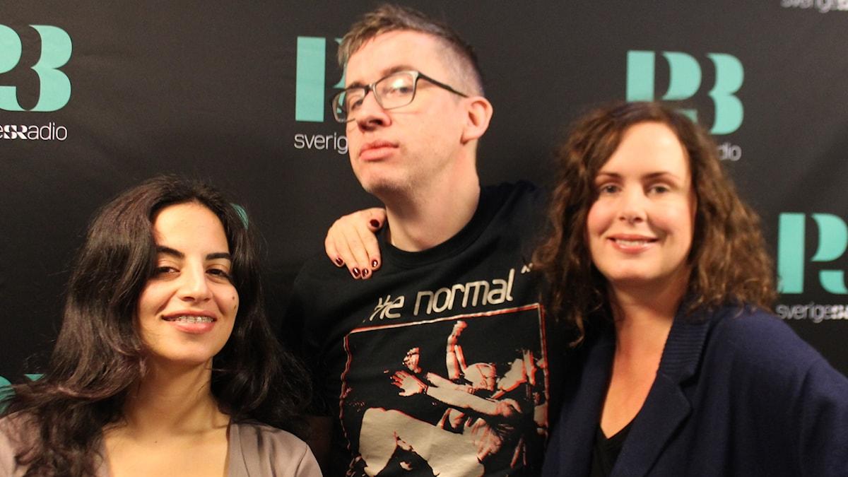 Maria, Fredrik Strage och Hanna.