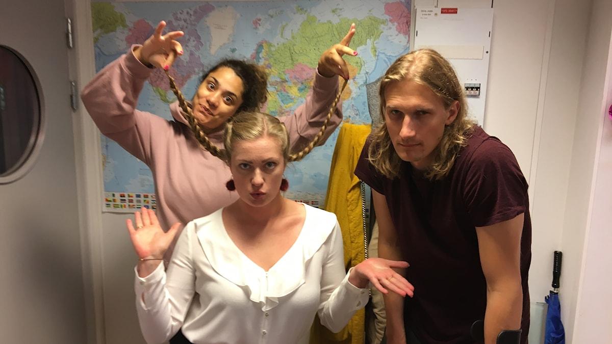 Farah, Sara och Marcus