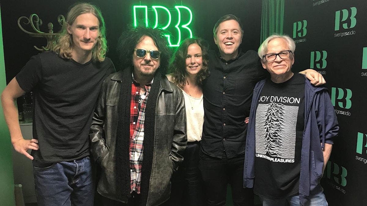Marcus, Steve Lukather (Toto), Hanna, Kalle och Steve Porcaro (Toto)