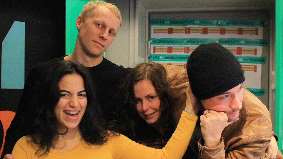 Maria, Richard Henriksson, Hanna och David.