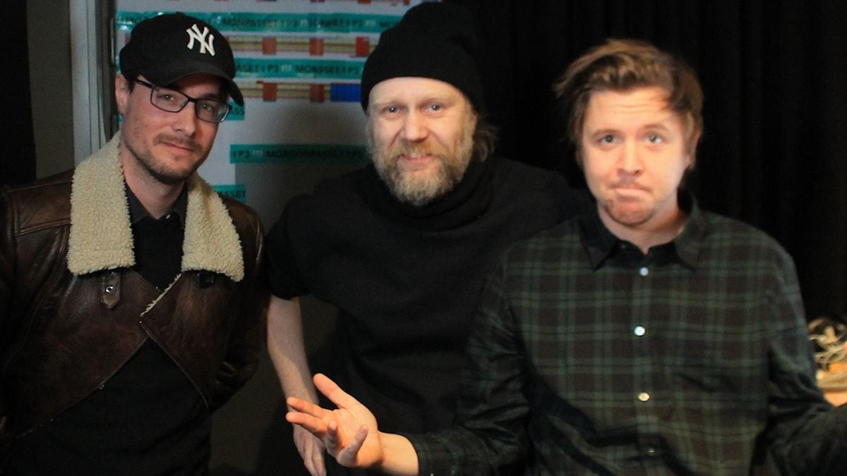 David, Gurra G och Kalle.